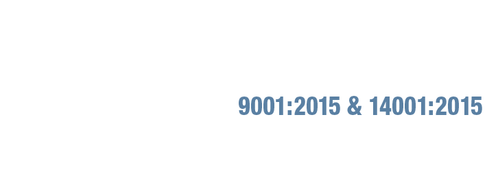 ISO 9001:2015 and ISO 14001:2015 certification